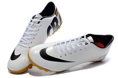 Boy Nike Mercurial Vapor IX CR7 TF White Black  61.99 3ce72f9a97cc6