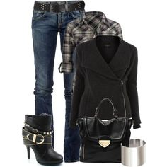 """Untitled #963"" by johnna-cameron on Polyvore ----> Without the bag and shoes, please."
