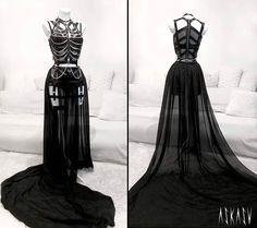 Victorian - Gothic - Steampunk Black Wedding Dress Ideas
