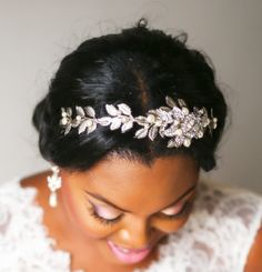 Bridal headband Rhinestone Wedding headpiece by treasures570