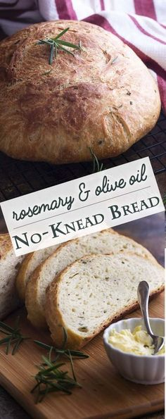 Love making artisan bread but want it to be quick and easy? This rosemary no kne… Love making artisan bread but want it to be quick and easy? This rosemary no knead bread bakes up like a dream in your dutch oven and only takes a few minutes of work. Artisan Bread Recipes, Bread Machine Recipes, Easy Bread Recipes, Cheap Recipes, Dutch Recipes, Healthy Bread Recipes, Artisan Food, Cheap Bread Recipe, No Oven Recipes