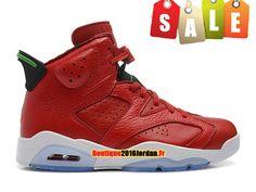 d2a1063e510f Air Jordan Retro ´MVP History of Jordan´ - Chaussures Baskets Nike Jordan  Pas Cher Pour Homme Rouge