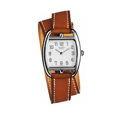 Hermes Cape Cod Tonneau PM Small Ladies Quartz Watch with Double Wrap Strap - 034318WW00 Hermes,http://www.amazon.com/dp/B00CBG5FK6/ref=cm_sw_r_pi_dp_tL2rtb1792BW83FP