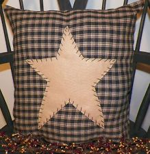 Pillow COVER Barn Star Primitive Country Rustic Home Decor Americana Large Throw