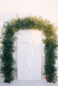 The clean white backdrop of Santorini made the perfect blank canvas for this destination Greece wedding. Wedding Arbors, Wedding Ceremony Flowers, Arch Wedding, Wedding Ideas, Wedding Decorations, Backdrop Wedding, Ceremony Backdrop, Indoor Wedding, Fall Wedding
