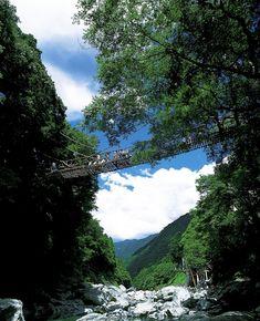 Kazura Bashi (Vine Bridge), Iya, Tokushima, Japan 祖谷のかずら橋