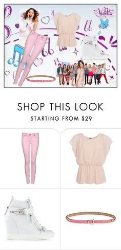"""""""violetta"""" by maria-look ❤ liked on Polyvore featuring Disney, Replay, Giuseppe Zanotti, Valentino, women's clothing, women, female, woman, misses and juniors"""