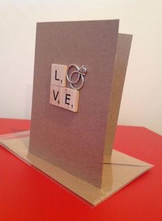 Ideas Wedding Card Gratulation Vintage For 2019 Wedding Cards Handmade, Greeting Cards Handmade, Handmade Engagement Cards, Love Cards, Diy Cards, Scrapbook Cards, Scrapbooking, Little Presents, Wedding Anniversary Cards