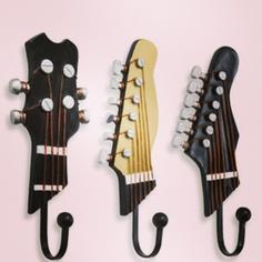 Ganchos de guitarra, kit com 3 peças! #guitar #guitarra #musico #cool http://vintagecool.com.br/loja/cabideiros-instrumentos.html