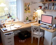 Home Office Design, Home Office Decor, House Design, Home Decor, Study Room Decor, Room Decor Bedroom, Desk Inspiration, Room Goals, Aesthetic Room Decor