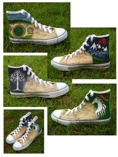 The Hobbit and The Lord of the Rings Shoes by emma-hobbit.deviantart.com on
