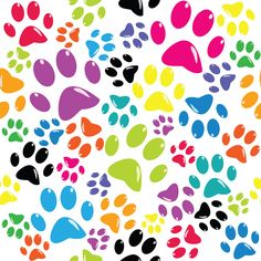 Dog Fabric, Dog Paw Fabric Multi Color, Cotton or Fleece 5708 – Beautiful Quilt Paw Print Background, Background Patterns, Paw Patrol Decorations, Cat Footprint, Scrapbook Titles, Scrapbooking, Custom Printed Fabric, Baby Fabric, Easter Art