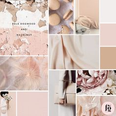 Dogwood and Hazelnut Moodboard by Fancy Girl Design Studio