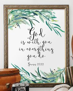 Biblical wall art quotes bible verse wall art by TwoBrushesDesigns