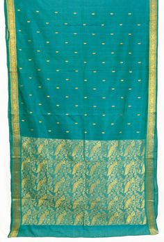 This is a pre-owned saree in good condition that can be worn or made into beautiful covers, wall hangings, partition, throws, dress designs, craft work,
