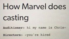So true. Chris Pratt, Chris Hemsworth, Chris Evans, and one other one I don't know the last name of