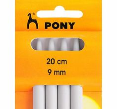 Pony 20cm Knitting Needles, 9mm, Pack of 4 This knitting needles are sturdy yet light, ideal for basic and advanced knitting. (Barcode EAN=8901003366570) http://www.comparestoreprices.co.uk/hobbies/pony-20cm-knitting-needles-9mm-pack-of-4.asp