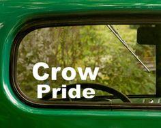 Crow Pride Decal, Car Decal, Vinyl Sticker, Laptop Sticker, Crow  Decals, Crow  Indians, Native American, Vinyl Decal, Decals