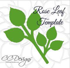 Flor rosa de papel grande plantillas y archivos SVG
