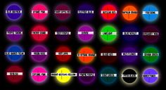 Special Effects Hair Dye Color Chart...this is the only hair dye I use on my locks.