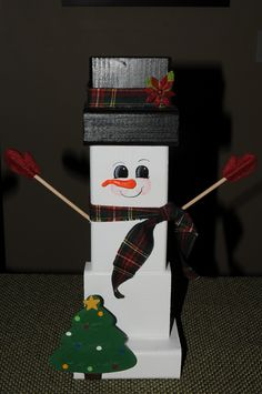 2x4 snowman