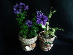 Ogród z kreatywnymi fantazjami - Joanna Wajdenfeld: Jak wykonać osłonkę na doniczkę ze sznurka