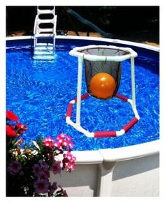 Figure 5 Floating Basketball Hoop 243x300 DIY Ideas   Pool Basketball Fun Game