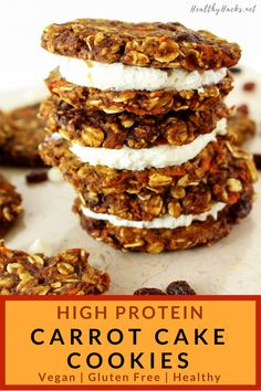Risotto with ceps, spinach sprouts and Vacherin Fribourgeois AOP - Healthy Food Mom High Protein Desserts, Healthy Vegan Desserts, Healthy Cookies, Healthy Treats, Healthy Cream Cheese, Carrot Cake Cookies, Healthy Carrot Cakes, Pin On, Keto