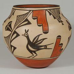Traditional Zia Pueblo Polychrome Olla by Sofia Pino Medina - C3841A #adobegallery #SouthwestIndianPottery #Pottery #ZiaPuebloPottery #HomeDecor