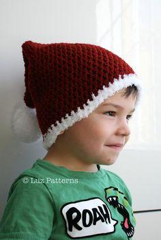 Holidays pattern crochet Santa hat pattern by LuzCrochetPatterns, $4.99