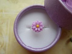 Child's Flower Ring Adjustable Childs Ring Flower by BuyMeBling