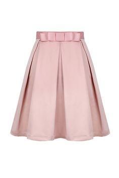 Goodnight Macaroon Pink Bow High Waist Midi Skater Skirt  $55.00 USD  ASO Kate Bosworth