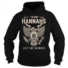 Cool Team HANNAHS Lifetime Member - Last Name, Surname T-Shirt T shirts
