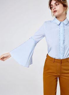Uterqüe Denmark Product Page - Ready to wear - Shirts and blouses - Mini ruffle shirt - 690