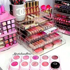 Pretty makeup collection.