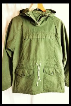 Vintage British Army original 1950's wind proof mountain smock