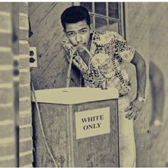 "Black man sipping from ""whites only"" water fountain [xpost : r/OldSchoolCool] : firstworldanarchists"