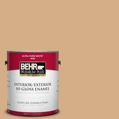 BEHR Premium Plus 1-gal. #bxc-67 Santa Fe Tan Hi-Gloss Enamel Interior/Exterior Paint