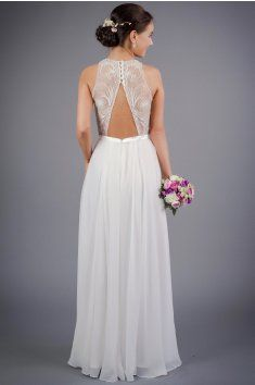 svatební saty s odhalenymi zady korzetový živůtek zdobený tylem s  našívanými perličkami lehká splývavá sukně s 621851e253