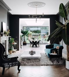 So looking forward to having some kind of order next week. I'm in full nesting mode and organising but nothing is in order. My Living Room, Home And Living, Living Spaces, Simple Living, Family Room Decorating, Decorating Ideas, Dark Walls, Dark Interiors, Interior Design Inspiration