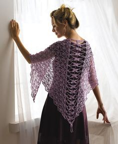 Dragonfly Shawl by Kristin Omdahl, #crochet pattern available in her book Crochet So Fine.