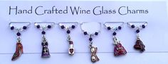 Girly Charms. Wine Glass Charms, Girly Girls Themed, Gala Dinner Gifts, Dinner Party Gift, New Home Gift Ideas, Garden by Makewithlovecrafts on Etsy Gifts For Friends, Gifts For Her, Great Gifts, Gala Dinner, Wine Glass Charms, Purple Velvet, New Home Gifts, Stocking Fillers, Girls Best Friend