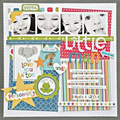 Bella Blvd Tiny Tots collection. Little Man Layout by DT member Stephanie Buice