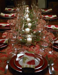 Christmas Dinner Table 2012