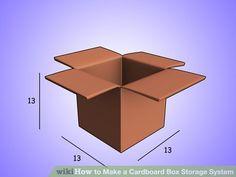 Image titled Make a Cardboard Box Storage System Step 1Bullet1