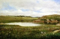 Freshwater Pond In Summer, Rhode Island -Thomas Worthington Whittredge (1820 – 1910)