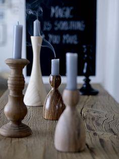 kaarsen en houten kandelaars #leenbakker