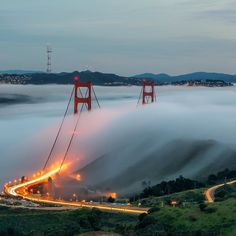 Afternoon fog starting to creep over Golden Gate Bridge. Shot from Marin Headlands. Photo by: @jeffreyplui Explore. Share. Inspire: #earthfocus by earthfocus