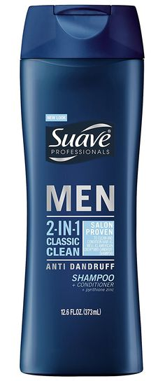 Suave Men 2 in 1 Shampoo and Conditioner, Classic Clean Anti Dandruff 12.6 oz * For more information, visit now : Hair Care Shampoo Plus Conditioner