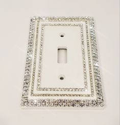 Sparkly Bedroom, Bling Bedroom, Cute Bedroom Decor, Room Ideas Bedroom, Decorative Light Switch Covers, Switch Plate Covers, Light Switch Plates, Light Covers, Plates On Wall